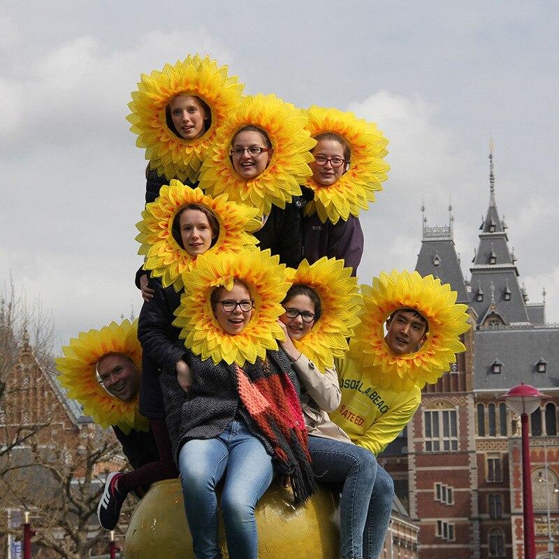 Patrón de flores, máscara de payaso, girasol, deportes, ceremonia de apertura, admisión, mano, utilería para bailes, suministros para fiestas