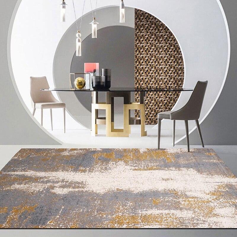 بسيطة الحديثة مجردة الشمال الأمريكي البساط غرفة المعيشة غرفة نوم السجاد طاولة القهوة السرير حصيرة مخصص مستطيلة كامل السجاد
