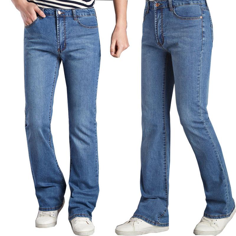 2020 новые модные классические мужские расклешенные джинсы, темно-синий и светильник, синие мужские мотобрюки байкер джинсы джинсы miamoda klingel цвет темно синий
