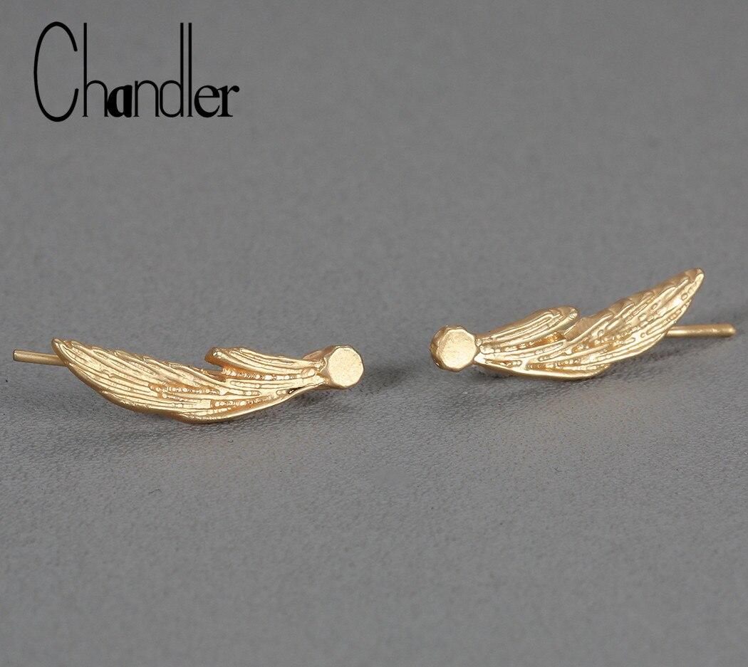 Pendientes con pasador de estrella de tiro con orejas de Chandler, joyería Boho, regalo para ella, chapado en oro, plata, pequeños Broncos Pop pequeños