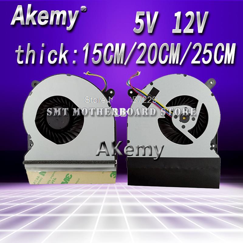 Ventilador de CPU Akemy COOLING REVOLUTION nuevo y Original para For Asus G750JW G750J cpu ventilador de refrigeración AB07512HX26DB00 00CWG750