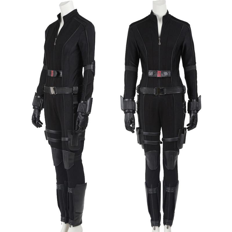 Natasha Romanoff Clothging Movie Captain 3 Civil War Cosplay Widow Costume Fancy Masquerade Party Ju