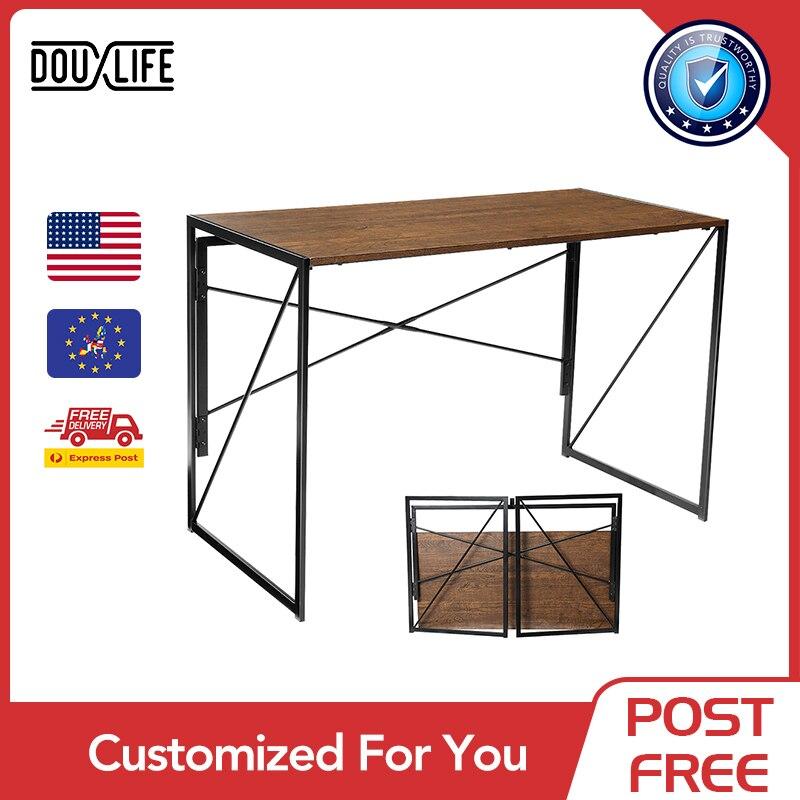 Складной компьютерный стол Douxlife, офисный стол для письма, учебный стол, складной столик в форме X для дома и офиса