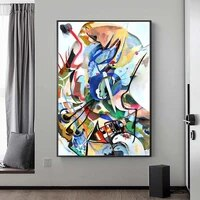 abstract wassily kandinsky famous artwork canvas paintings posters and prints reproductions wall art pictures home decoration