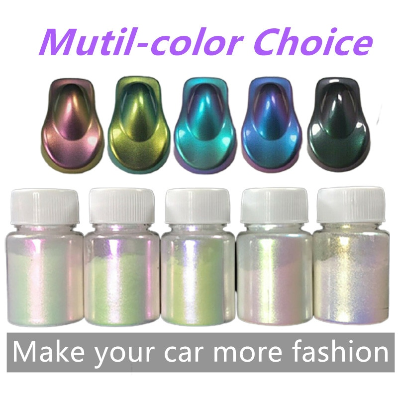 10g Chameleon Pigments Paint Powder Coating Dye For Car Auto Accessories Painting Decoration Arts Craft Nail Painting Supplies