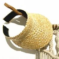 new summer women raffia straw hat sun visor cap lady holiday beach uv protection topless stab ins fashion hat caps