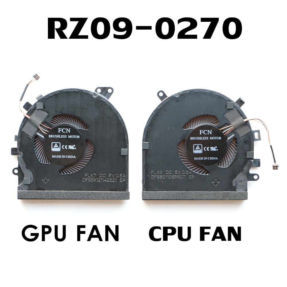 Portátil ventilador de CPU para Razer Blade 15 RZ09-03009E97 RZ09-03006W92 de CPU y GPU ventilador de refrigeración de GTX1660Ti