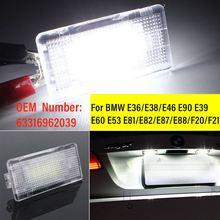 LED Bagages Coffre Lampe de Plancher Coffre À Bagages Botte Boîte à Gants pour BMW E60 E61 E46 E90 E39 X5 X1 F10 M5 E91 E92 E93 E88 E82