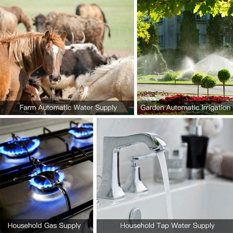 Wifi Smart Water Valve,Home Automation System Valve Control For Gas Or Water,Voice Control Compatible With Alexa Google Home enlarge