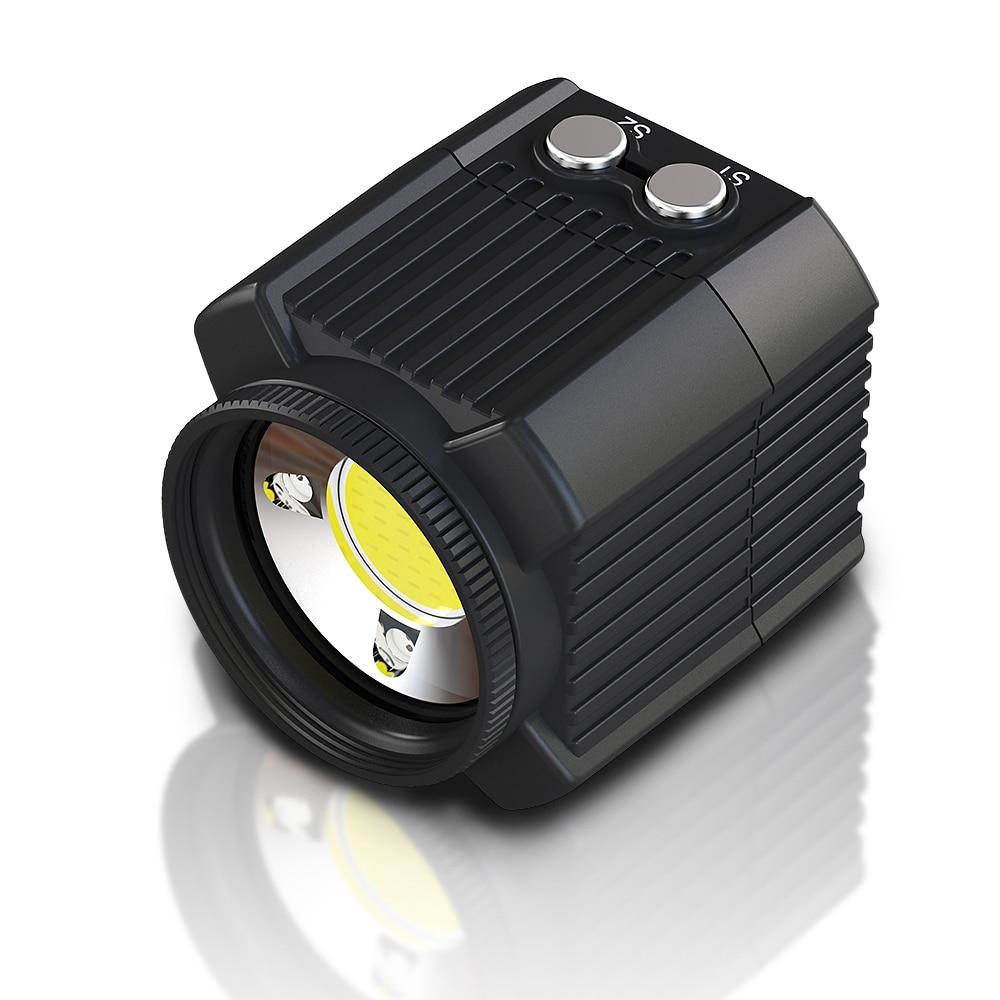 Cámara subacuática Flash 60m impermeable buceo Luz de relleno 2000LM para Gopro Hero 7 6 5 accesorios de cámaras de vídeo de acción 1 juegos
