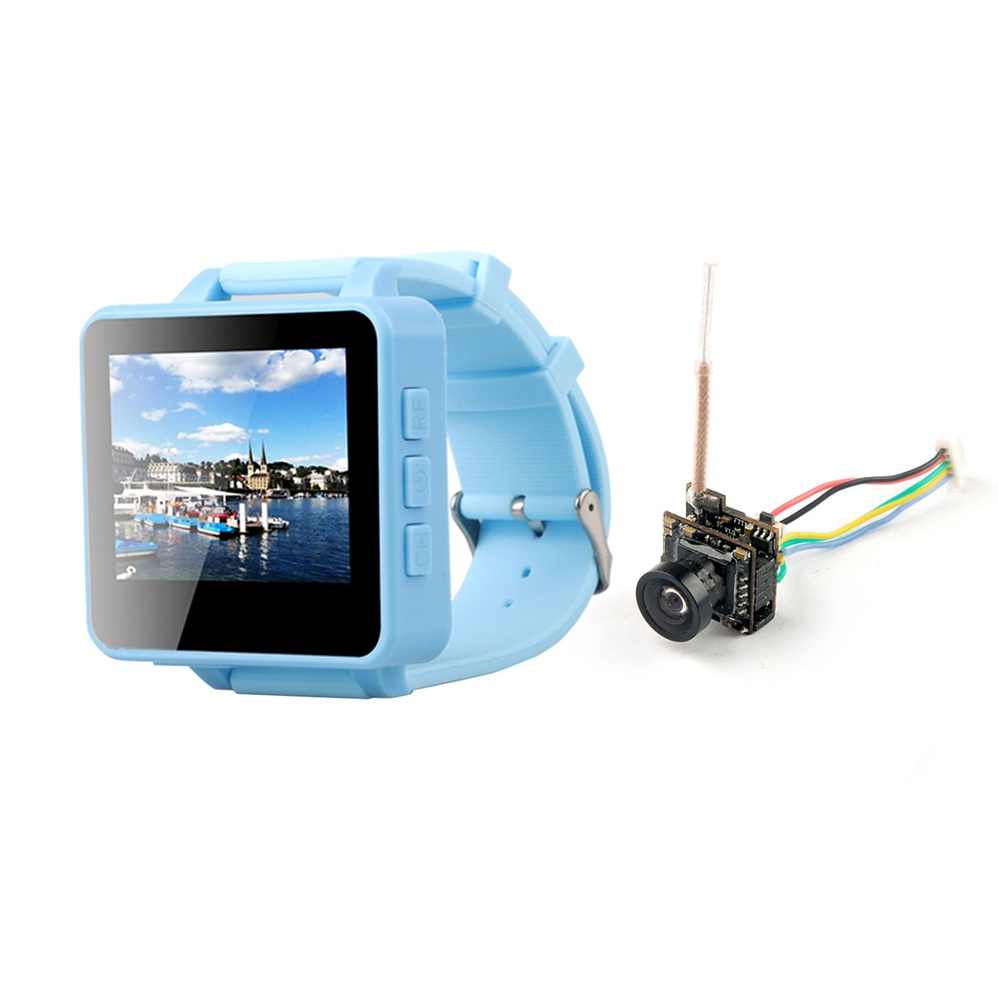 FPV ver FPV200 5,8 GHz 48CH OSD Raceband DVR 2 pulgadas LCD 960*240 pantalla FPV receptor con HCF7P AIO VTX 5,8G 700TVL Cámara