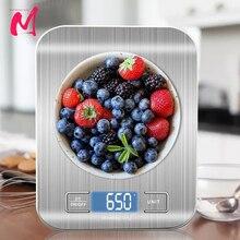 Bilancia da cucina digitale, Display LCD 1g/0.1oz bilancia per alimenti precisa in acciaio inossidabile per cottura bilancia da forno s elettronica
