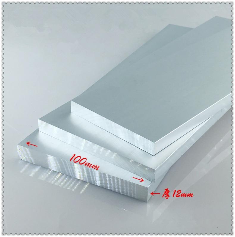 Алюминиевая пластина толщиной 12 мм ширина 100 мм длина 80 мм 12 мм x 100 мм Артикул алюминиевый сплав 6063-T5 окисление