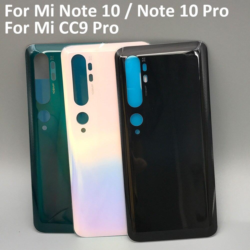 10 قطعة/الوحدة ل Xiaomi مي ملاحظة 10 برو البطارية عودة زجاج غطاء لوحة الباب الخلفي حالة ل Xiaomi مي CC9 cc9 برو الغطاء الخلفي الإسكان
