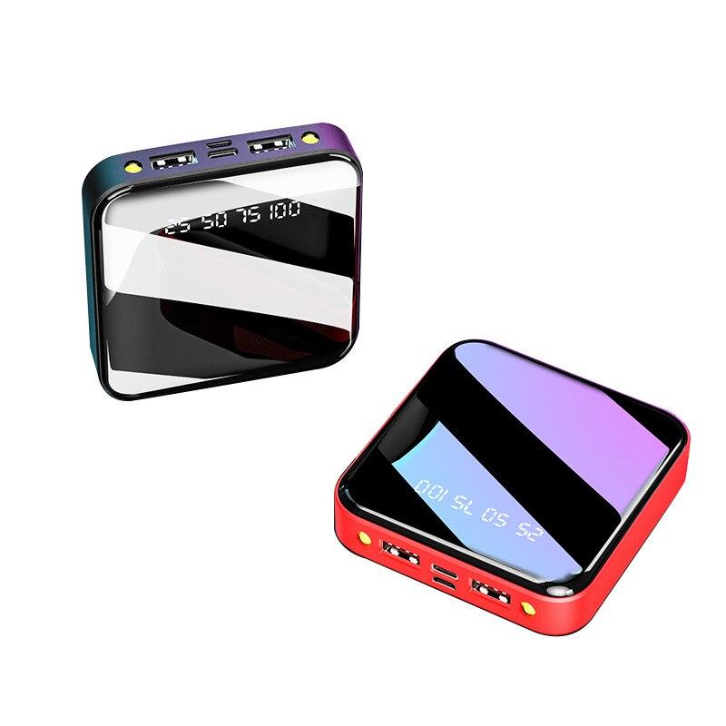 Mini banco de potencia portátil directo de fábrica espejo OEM 10000 Miliamps banco de energía personalizado