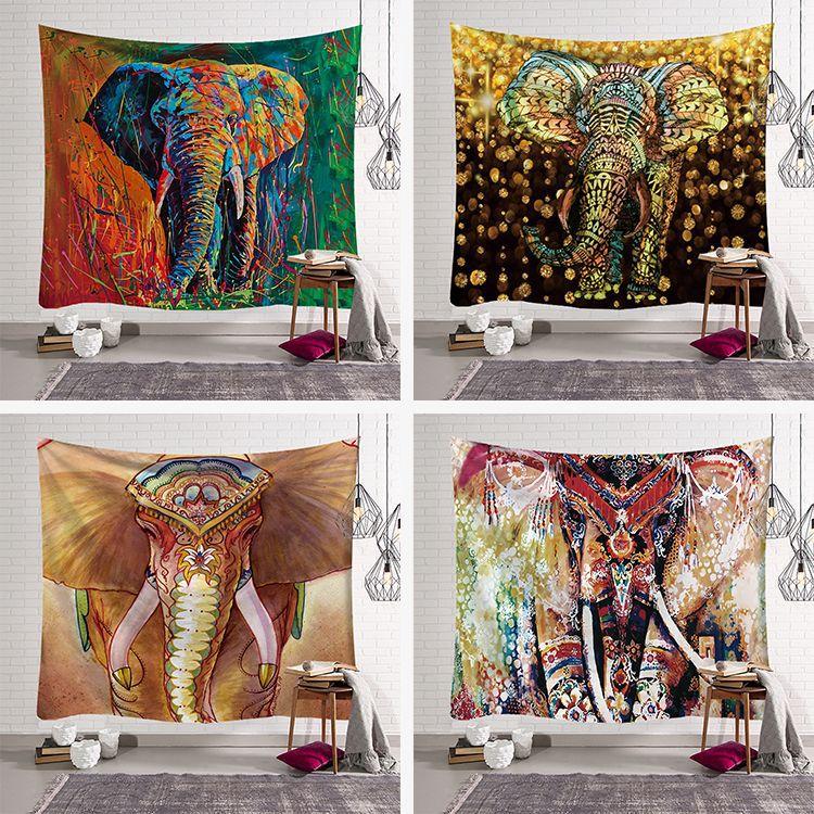 Psychedelic India Mandala Elephant Tapestry Witchcraft Mandalas Wall Hanging Cloth Blanket Boho Decoration Home Decorbeach Towel 1ps bohemia mandala blankets tapestry elephant wall hanging wandbehang gobelin blanket dorm home decor mantas mandalas