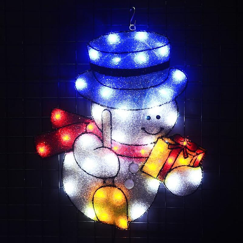 2D snowman xmas lights christmas outdoor decoration holiday home decoration fancy lights navidad tree light