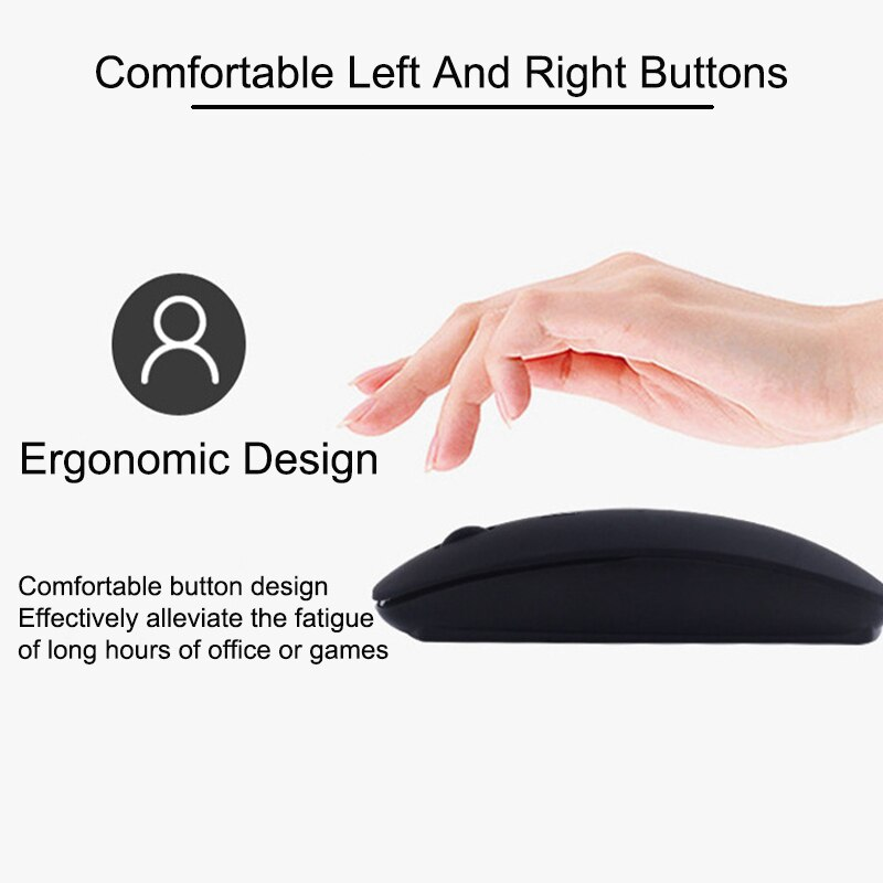 Support Bluetooth Mouse for Samsung Apple iPad Huawei Lenovo Android Windows IOS Mac Macbook Wireless Mouse Rechargeable Mice