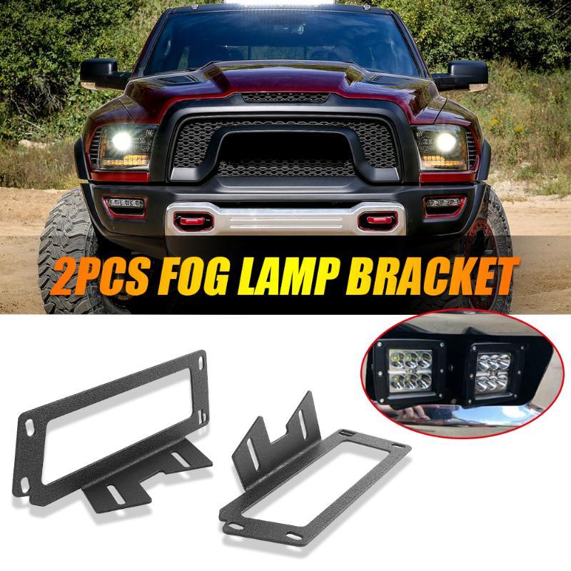 2 uds., parachoques LED, vaina de luz de trabajo, fabricación elaborada, soportes duraderos prolongados para Dodge Ram 1500 09-12 2500 3500 10-19