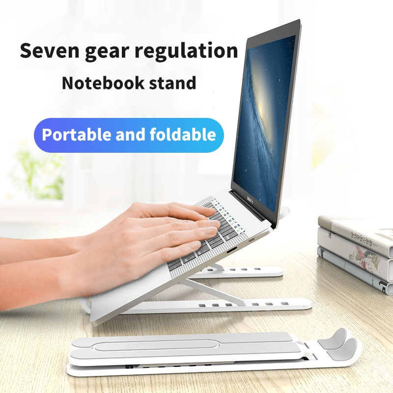 Soporte ajustable para portátil, portátil, plegable, ergonómico, soporte de 7-17 pulgadas para MacBook Air Pro
