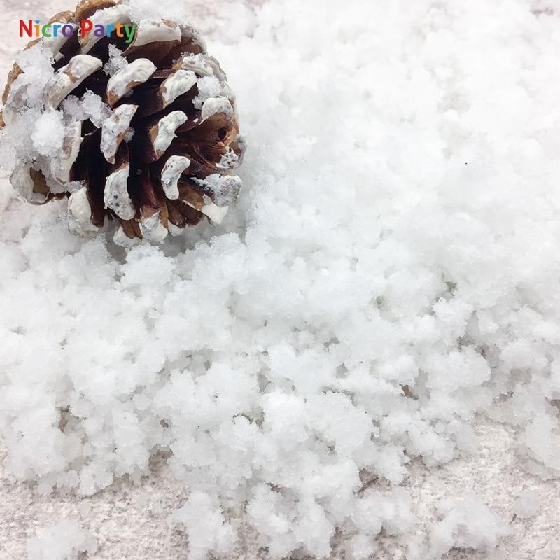 Nicro 8 g/bolsa blanca nieve Navidad boda falsa magia instantánea nieve mullida decoraciones súper absorbente árbol nieve polvo # Oth185