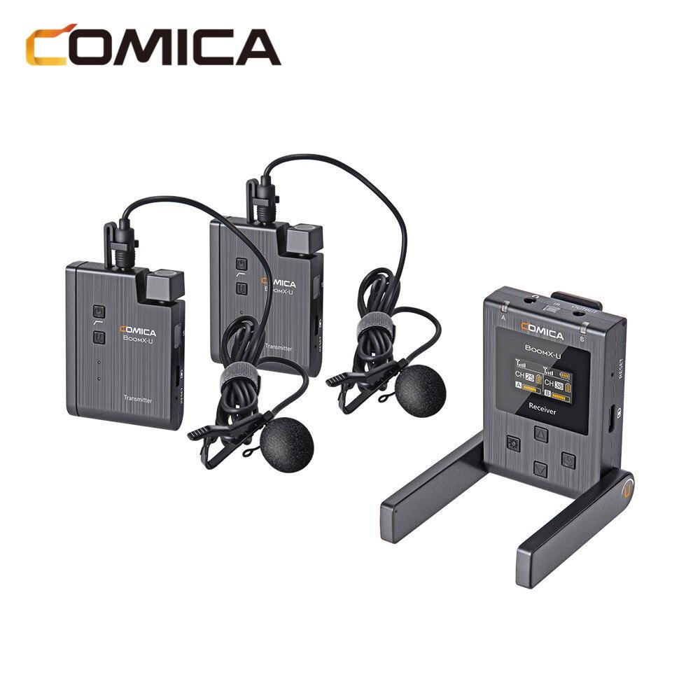 Comica BoomX-U BoomX ميكروفون لاسلكي U1 U2 البث مستوى Mic البسيطة UHF استقبال الإرسال كيت ل كاميرا DSLR الهاتف