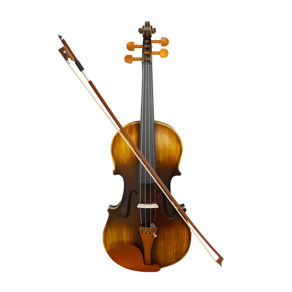 4/4 Electro-Acoustic Violin Professional Stringed Instrument With Case Bow Musical Instrument Parts Matte Panel Fiddle With EQ enlarge