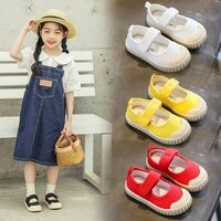 2021 childrens canvas shoes summer new students korean casual biscuit shoes flats breathable hot fashion cute shoes kids shoes