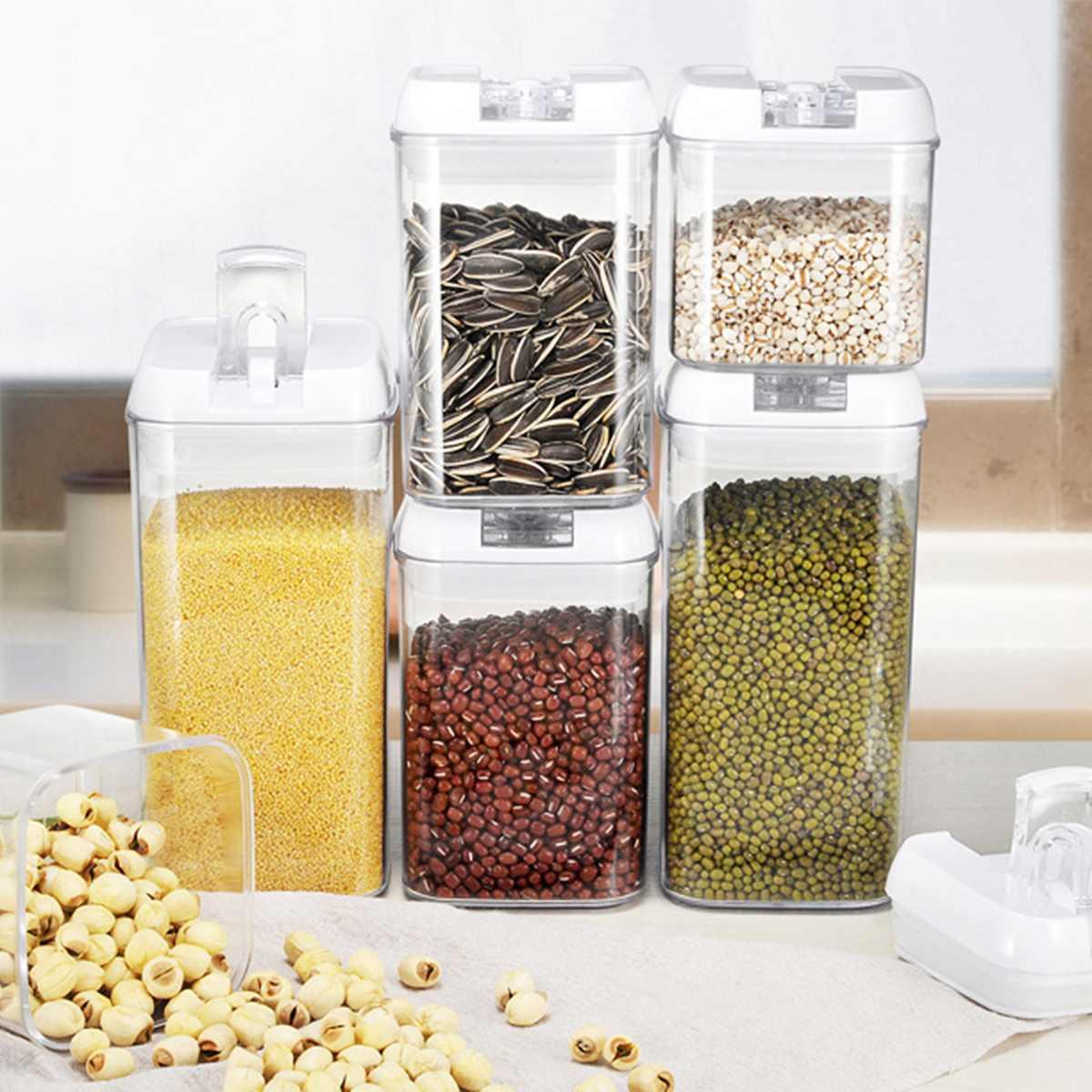 متعددة السعة البلاستيك الغذاء صندوق تخزين وجبات خفيفة عنب مجفف متعدد الحبوب مستودعات التخزين حاويات المطبخ علب شفافة مختومة