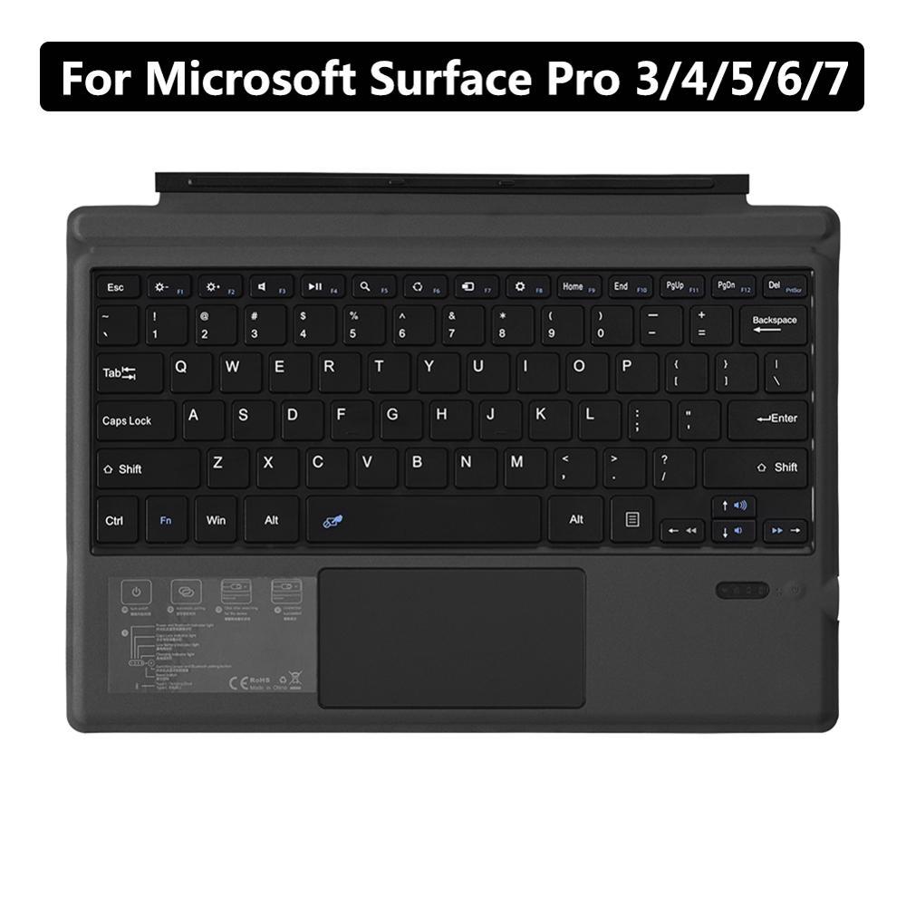 Механическая клавиатура для планшета Microsoft Surface Pro 3/4/5/6/7, беспроводная 3,0 клавиатура для планшета, ПК, ноутбука, Игровая клавиатура