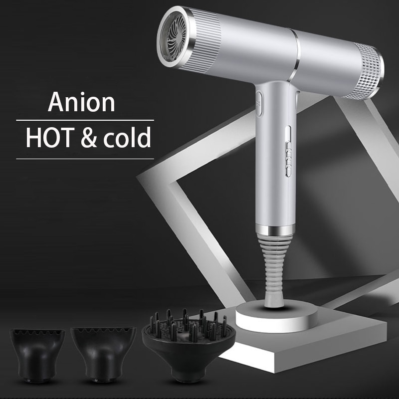Professional hair care household with negative ion hair dryer strong wind smooth fast drying anion Portable Diffuser Blow Dryer enlarge