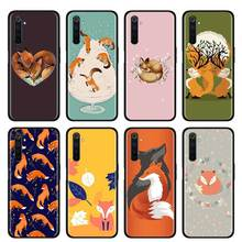 Thin Case for Realme X50 Pro 5G X2 X2 Pro XT C3 5i 6i 6 5 Pro Narzo 10 10A Phone Fall Cover Shell Cartoon Cute Fox