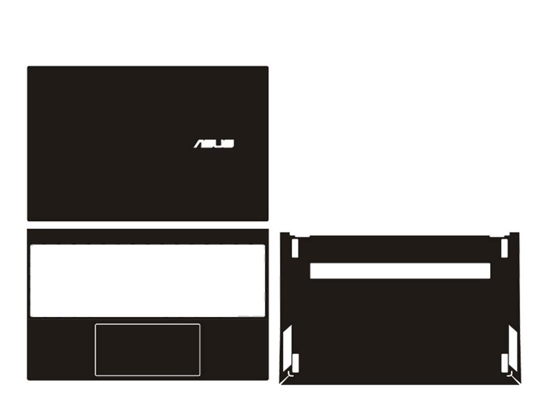 غطاء لاصق من الجلد/ألياف الكربون لأجهزة الكمبيوتر المحمول Asus ZenBook 13 UX325 UX325EA UX325JA UM325 UM325U إصدار 2020