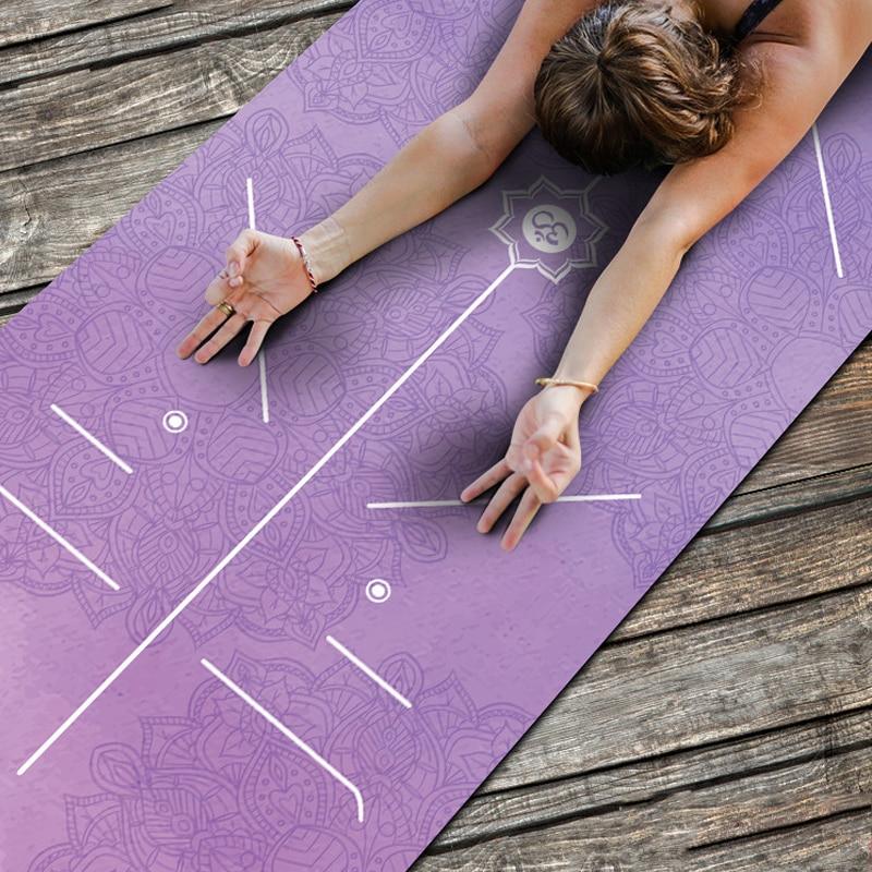 1.5MM Professionele Yoga Matten Meerdere Toepassingen antislip Suede Rubber Fitness Pad Yoga Deken Draagbare met Yoga Tas pilates Bikram