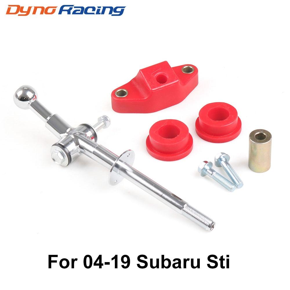 6 velocidade de aço e poli curto lance shifter & 85a bucha kit para 04 + subaru wrx sti bx101879