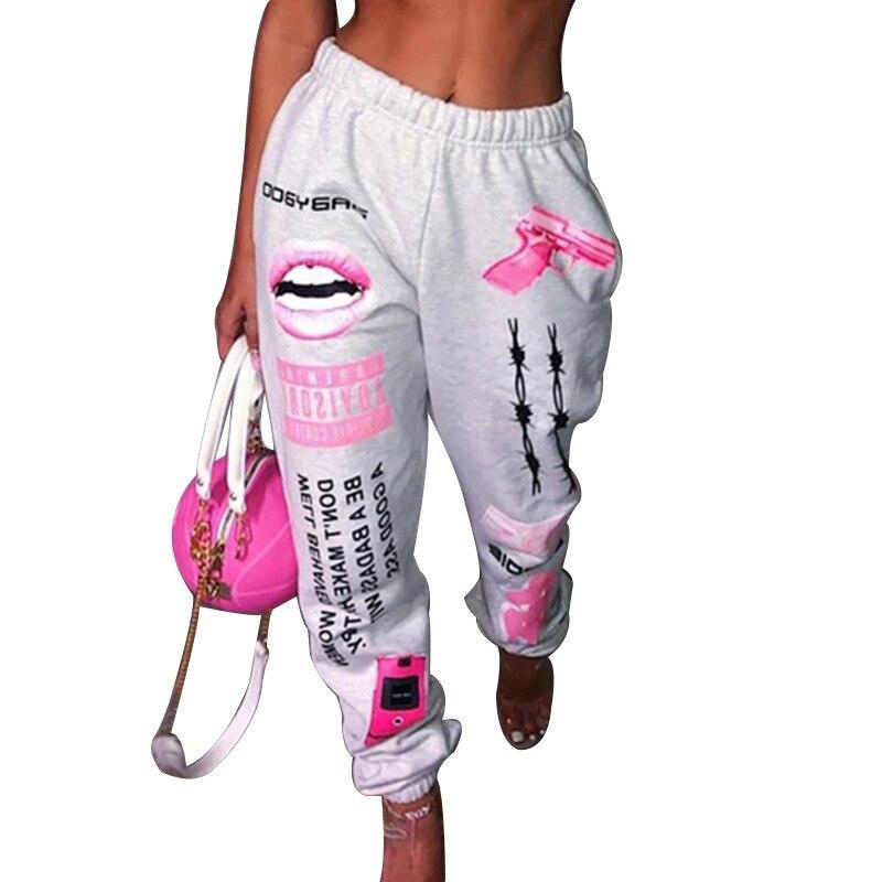 Новинка 2021, женские городские молодежные модные спортивные шаровары с эластичной талией в европейском и американском стиле, уличные пикант...