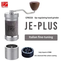 1zpresso je plus manual coffee grinder aluminum burr grinder stainless steel adjustable coffee bean mill mini bean milling 35g