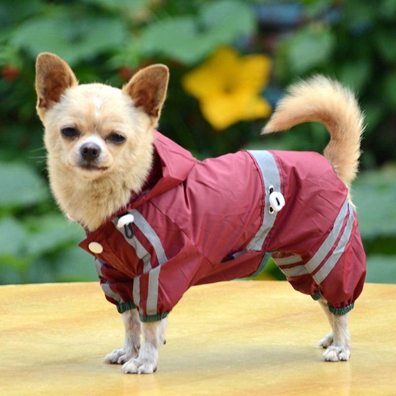 Cama para perro cómoda genial impermeable sudaderas con capucha monos de lluvia impermeable encantadora chaquetas grande para mascotas