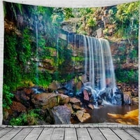spectacular waterfall landscape tapestries wall for home deco living room bedroom large size