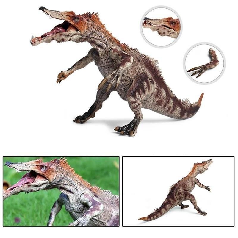 1 pçs simulação dinossauro modelo braços/boca móvel pesado garra dinossauro modelo ornamento plástico animal modelo de brinquedo para crianças presentes