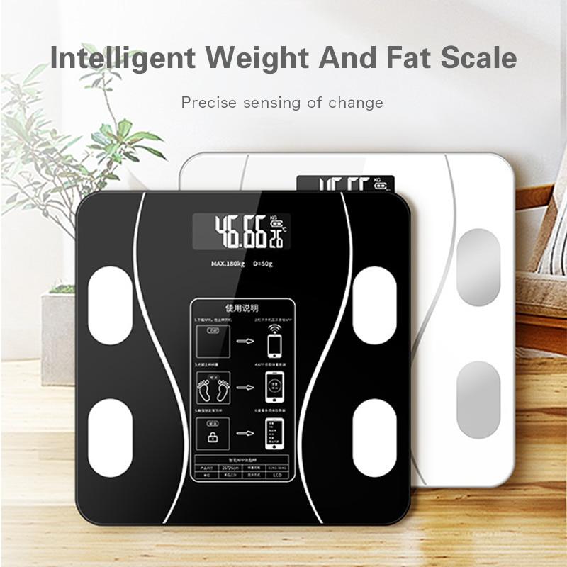 Body Fat Scale Smart Wireless Digital Bathroom Scale Body Composition Analyzer Weight scale that can be connected to Bluetooth