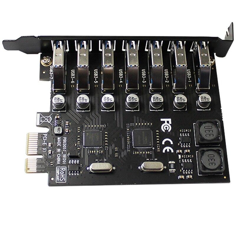 Adaptador USB PCIe 7 Puerto USB 3 Hub adaptador PCI E PCI...