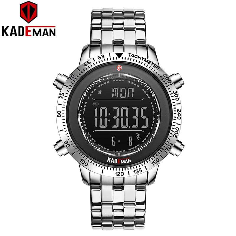 KADEMAN 2020 Luxury Men Watches LED Display Digital Watch Sport 3TAM Full Steel Fashion Wristwatches TOP Brand Relogio Masculino