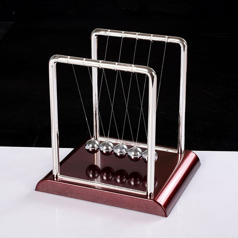 Early Fun Development Educational Desk Toy Gift Newtons Cradle Steel Balance Ball Physics Science Pendulum Office Decorations newtons cradle steel balance ball fun decoration physics science toy gift s new x6hb