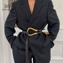 Wilden damen gürtel frauen gürtel licht luxus persönlichkeit gebogene metall hufeisen schnalle große U-förmigen mode x209