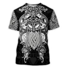 2020 nouveau mode hommes sweats à capuche 3D imprimé Viking tatouage t-shirt t-shirts shorts manches vêtements unisexe nordique cosplay streetwear-6