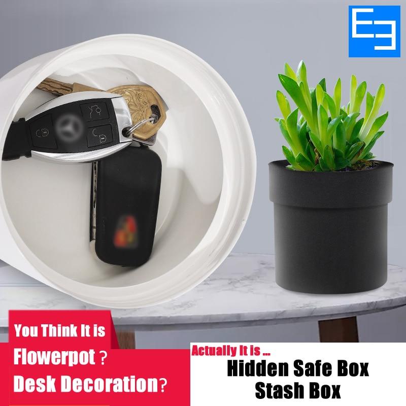 الإبداعية 2 طبقة الخفية خزنة مفتاح قفل المعادن مقلد متعددة وظيفة زهور مفاتيح ووتش مجوهرات خبأ مربع للمنزل مكتب