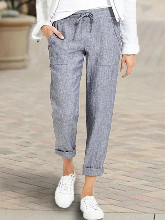 AliExpress - Women's Loose Cotton And Linen Casual Pants Fashion Streetwear Korean Style Casual Trousers