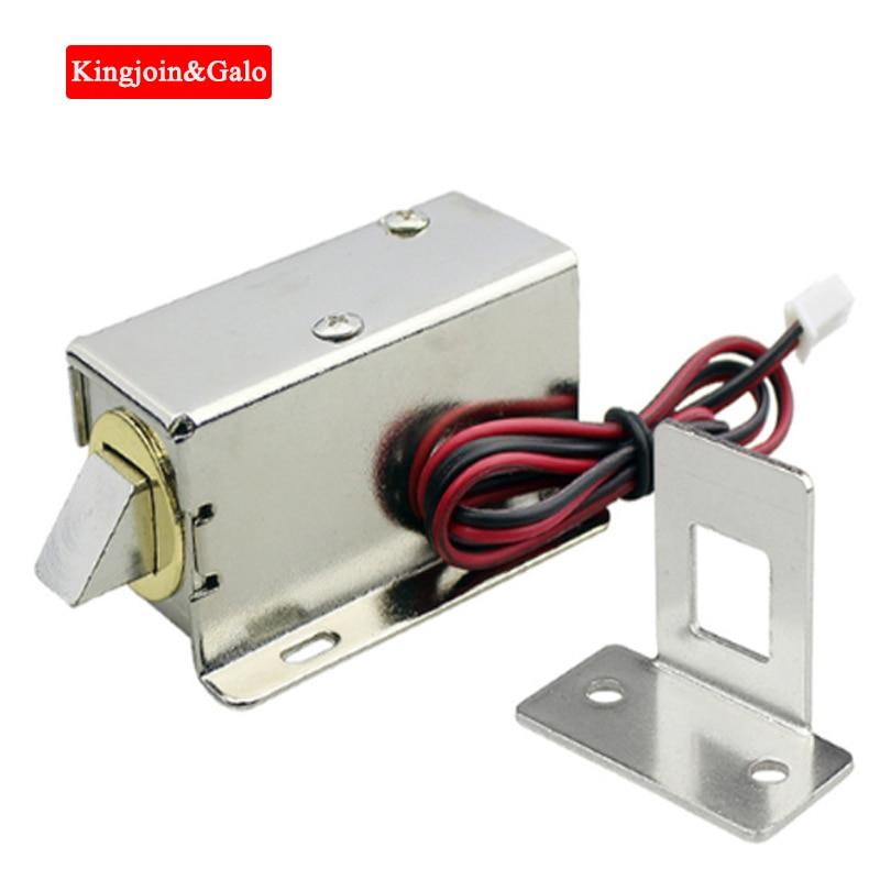 Cerradura electrónica para puerta 12V y 24V conjunto de liberación opcional cerradura eléctrica de control de acceso electromagnético