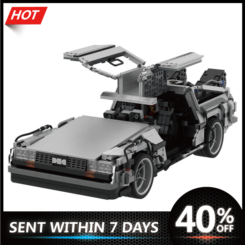 Technic Car Model Movie Back to the Future 1985 DeLoreanING Time Machine Building Blocks Bricks Toys For Kids Children Boys